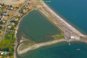 Argyle Lagoon, San Juan Island, with tidal creek entrance on the left